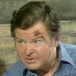 Benny as Claude Akins in 'Movin' On' from 'Humphrey Bumphrey: Continuity Announcer'