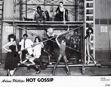 Hot Gossip promo photo taken at MGM studios where we were filming 'Can't stop the Music'. L to R Perri Lister, Richard King, Jane Colthorpe, Unknown, Floyd, Debbie Ash, Kim Leeson, Unknown, Roy Gayle, Alison Hierlihy.